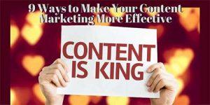 让您的内容营销更加有效的9种方法